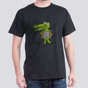Crocodile With Accordion Dark T-Shirt